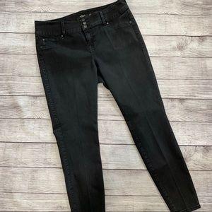 Black three button torrid jeans